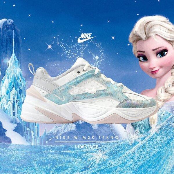 KS▸女鞋NIKE W M2K TEKNO 冰雪奇緣珍珠白色復古厚底老爹鞋時尚【AO3108-103】